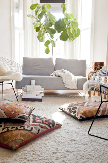 Large Bohemian Pillows For King Bed