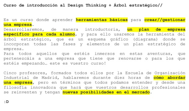 Curso de introducción al Design Thinking