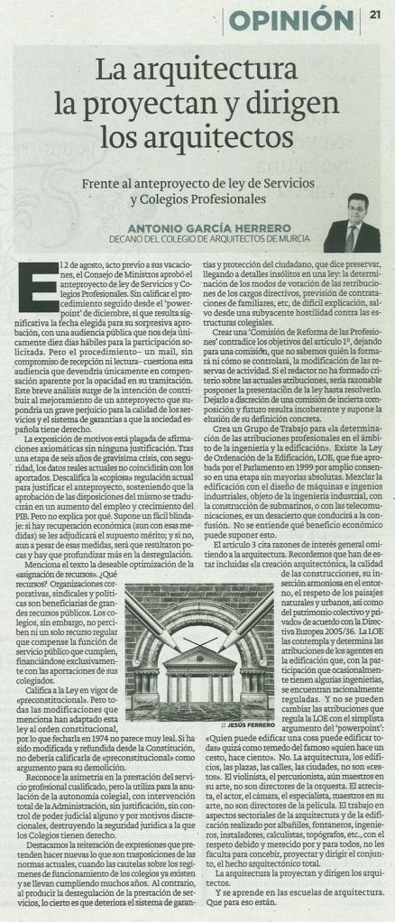articulo opinion decano COAMU