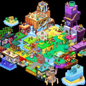 Los mundos de Mario enIsométrica