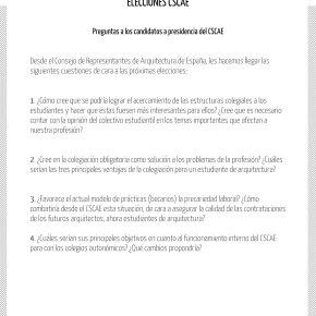 Preguntas de CREARQ a los candidatos a presidencia del CSCAE[actualizado]