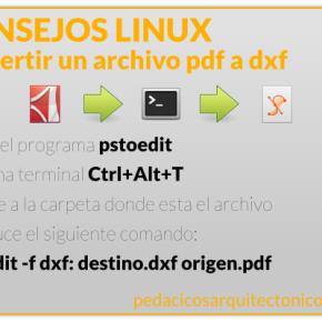 Consejo Linux: convertir de pdf adxf