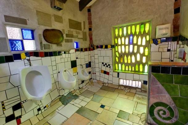 Hundertwasser toilets. Kawakawa. NZ