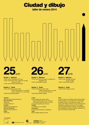 Ciudad y dibujo – del 25 al 27 deJunio