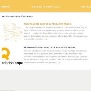 Arranca el Blog de la FundaciónArquia