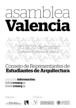 CREARQ reúne en Valencia a representantes de la mayoría de escuelas de arquitectura en su Asamblea General deMarzo.