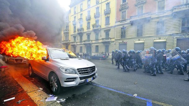 disturbios milan