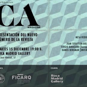Presentación de CA Magazine, revista de Cine y Arquitectura en Roca GalleryMadrid