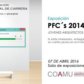 Exposición PFC's 2014-2015 – Jovenes Arquitectos del COAMU [PlazoAmpliado]