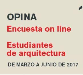 OPINA – Encuesta Online para estudiantes de arquitectura – byArquia